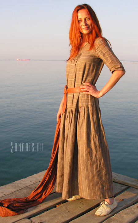 2d85f8179294829 Купить Длинное платье из льна