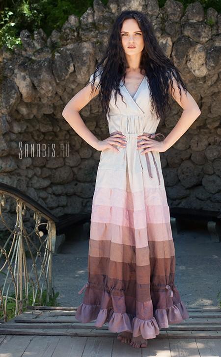 льняное платье Время нежности