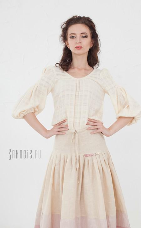 подвенечное льняное платье