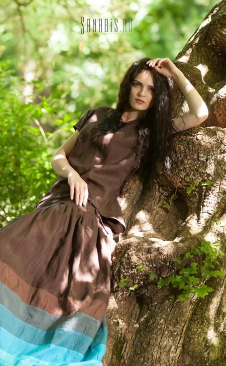 туника и юбка из льна