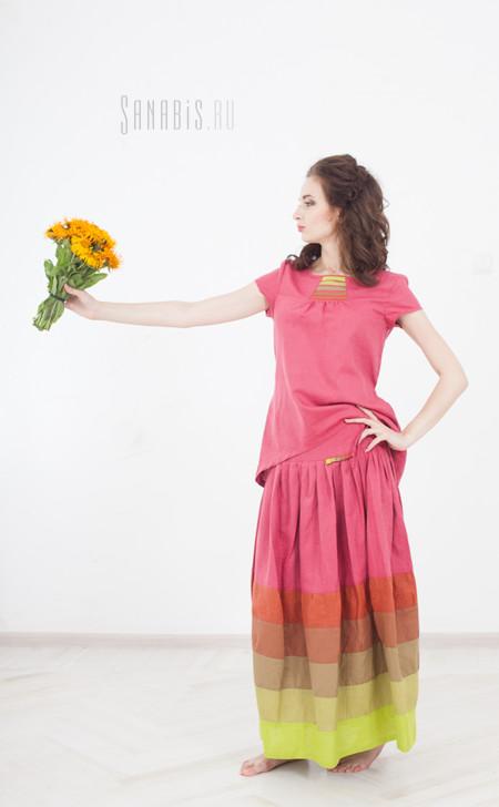 льняные туника и юбка
