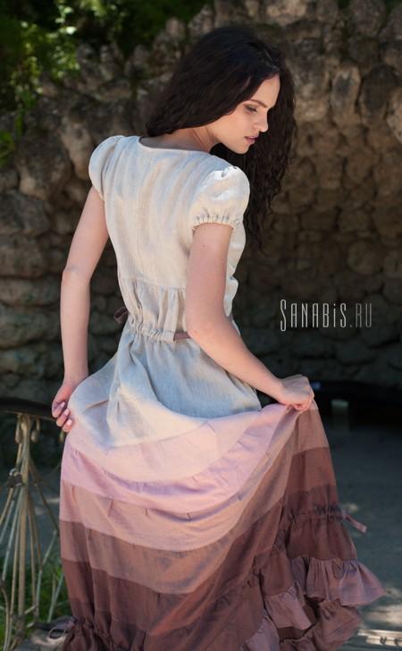 льняное платье для беременных