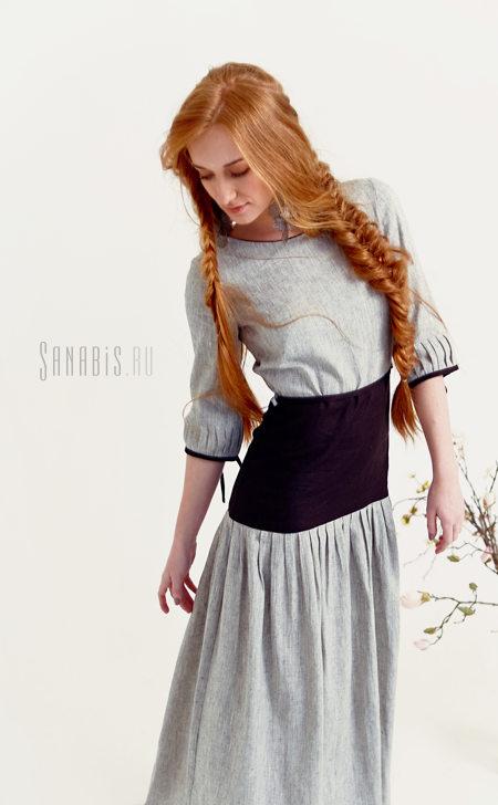 льняное платье Седо