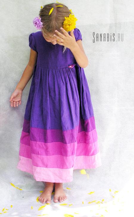детское платье из льна