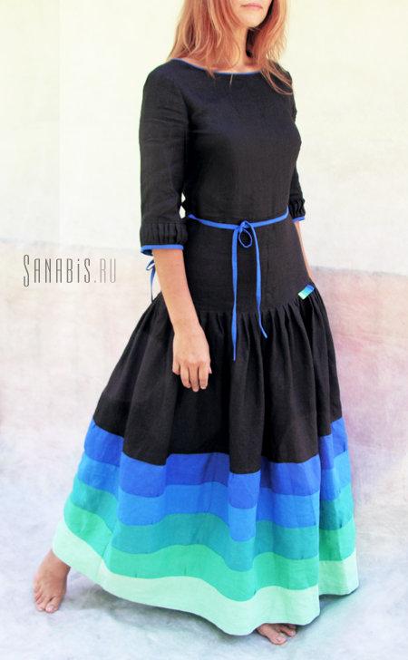 3c80ad12051 Купить Длинное льняное платье