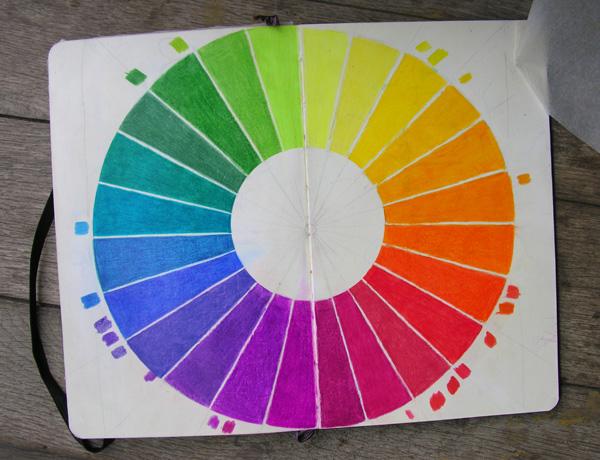 Цветовой круг из 24-х частей