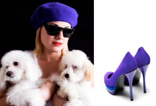 сине-фиолетовые аксессуары