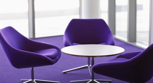 сине-фиолетовое кресло