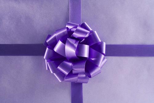 сине-фиолетовый подарок