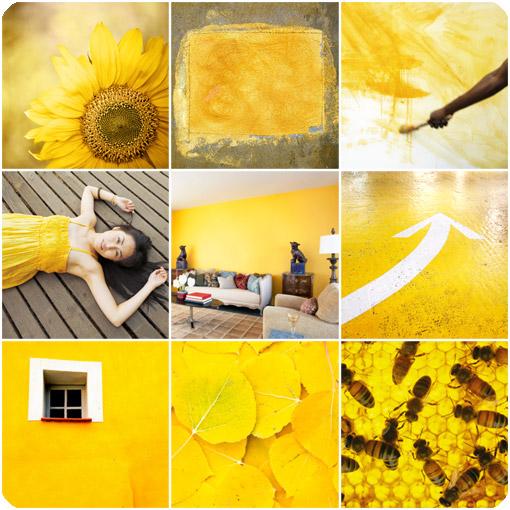 желтый коллаж