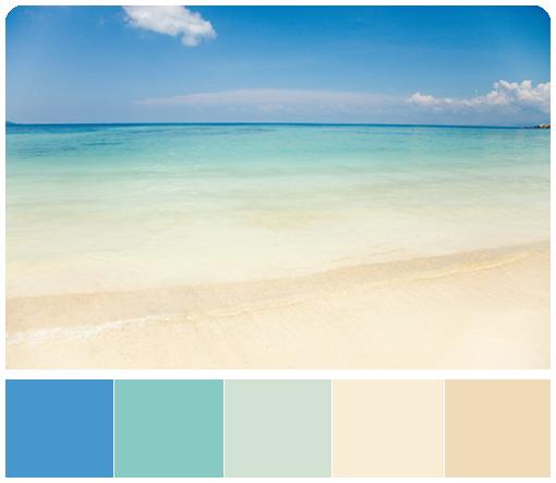 лазурная палитра - цвет моря