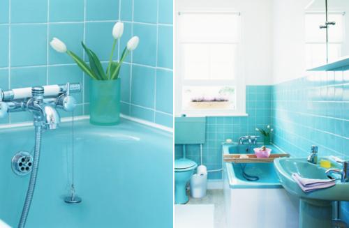 бирюзовая ванна