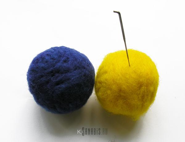 украшение и валяние шариков