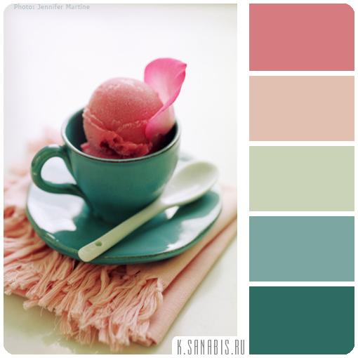 розовое мороженное