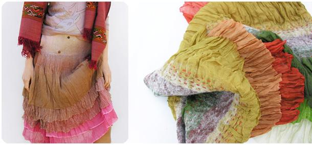 шелковая юбка в стиле бохо