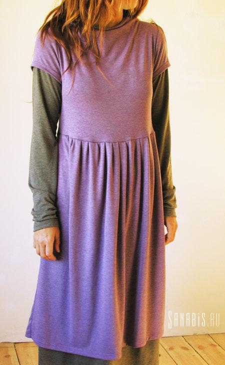 Купить двойное трикотажное платье